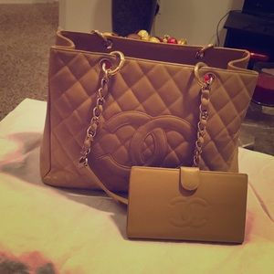 Chanel GST tote and wallet